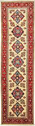 Nain Trading Handknotted Kazak Rug 98x26 Runner Beige/Pink (Wool, Afghanistan)