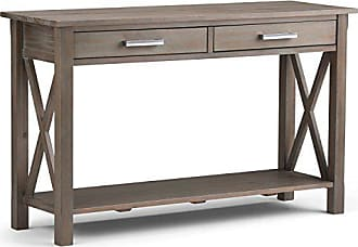 Simpli Home Simpli Home 3AXCRGL003-GR Kitchener Solid Wood 47 inch wide Contemporary Console Sofa Table in Distressed Grey