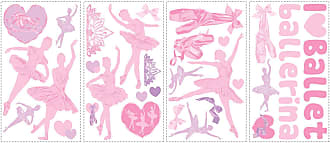 RoomMates Ballet Peel and Stick Wall Decals w/Glitter - RMK1656SCS