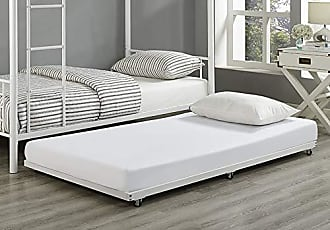 Walker Edison WE Furniture Twin Roll-Out ONLY Trundle for Bed Frame - White