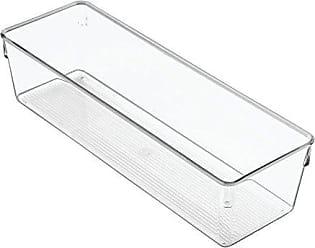 InterDesign iDesign Linus Plastic Drawer Organizer, Storage Container for Vanity, Bathroom, Kitchen Drawers, 12 x 4 x 3 - Clear