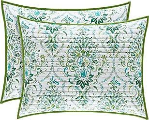 Five Queens Court Kinsley Bohemian Quilted Pillow Sham, Teal, Standard/Queen 20x26