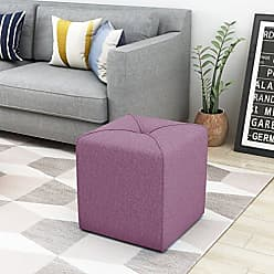 Noble House Christopher Knight Home 303838 Kenyon Square Ottoman, Lavender