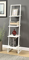 Convenience Concepts Designs2Go 4-Tier Ladder Bookshelf, White