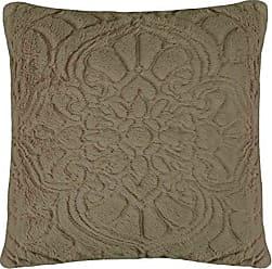 Ellery Homestyles Vue Signature Plush Décor Charlotte Faux Fur Coverlet Collection, 18 x 18, Taupe