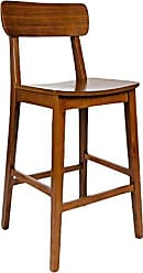 Boraam 33729 Hagen Zebra Series Bar Height Stool, 29-Inch, Zebrano Rich Walnut