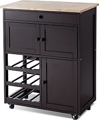 Costway Modern Rolling Storage Kitchen Cart with Drawer