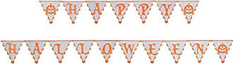 Heritage Lace Frightful Happy Halloween Pennant Banner, 5 Yards x 11