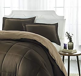 iEnjoy Home iEnjoy Home Collection Down Alternative Reversible Comforter Set -King -Taupe/Chocolate