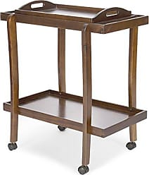 GDF Studio Christopher Knight Home 301462 Patty Rich Mahogany Acacia Wood Bar Cart with Removable Top Tray