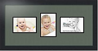 Art to Frames Double-Multimat-211-868/89-FRBW26079 Collage Photo Frame Double Mat with 3-4x6 Openings and Satin Black Frame