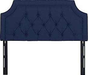 Jennifer Taylor Home Kaye Collection Queen Size Size Modern Adjustable Hand Tufted Bed Headboard, Queen Size, Dark Midnight Blue
