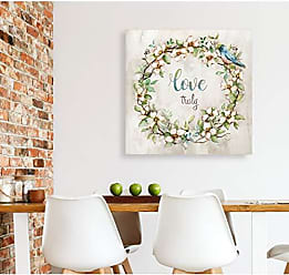WEXFORD HOME Love Truly Gallery Wrapped Canvas Wall Art, 40x40