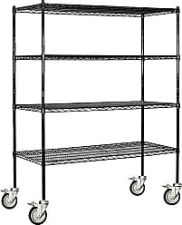 Salsbury Industries Mobile Wire Shelving Unit, 60-Inch Wide by 69-Inch High by 18-Inch Deep, Black