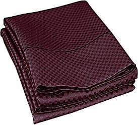 Superior Cotton Blend 800 Thread Count Jacquard Weave Micro-checkers Wrinkle Resistant King Pillowcase Pair, Plum