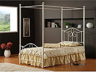 Hillsdale Furniture Hillsdale Furniture 1354BFP Westfield Canopy Bed Set, Full, Off White