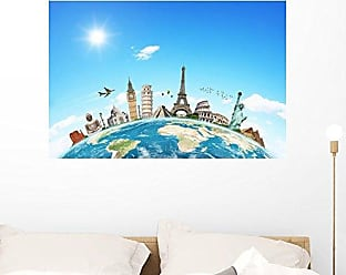 Wallmonkeys FOT-79850753-36 WM362617 Illustration of Famous Monument of The World Peel and Stick Wall Decals (36 in W x 24 in H), Large