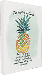 Stupell Industries Stupell Home Décor The Fruit of the Spirit Multicolored Pineapple Stretched Canvas Wall Art, 16 x 1.5 x 20, Proudly Made in USA