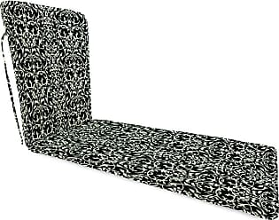 Jordan Manufacturing Company Classic Chaise Cushion with Ties, 76 x 23 x 3, in Pine Filigree