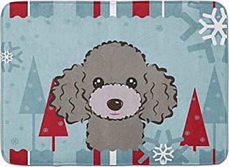 Carolines Treasures Christmas English Bulldog Grey Brindle Floor Mat 19 x 27 Multicolor