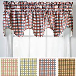 Charlestown Check Tie Up Valance Window Curtain Watermelon