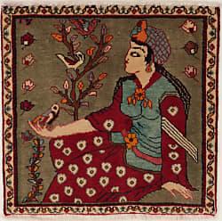 Nain Trading Ghashghai Rug 22x21 Square Dark Grey/Beige (Iran/Persia, Wool, Hand-Knotted)