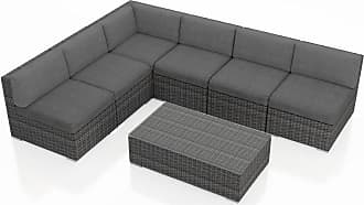Harmonia Living Outdoor Harmonia Living District 7 Piece Sectional Patio Conversation Set Charcoal - HL-DIS-TS-7SEC-CC