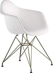 NyeKoncept 332010EM2 Mid Century Eiffel Arm Chair, Milano White