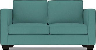 Apt2B Catalina Twin Size Sleeper Sofa - Leg Finish: Espresso - Sleeper Option: Memory Foam Mattress - Teal Poly Blend - Sold by Apt2B - Modern Couch Ma
