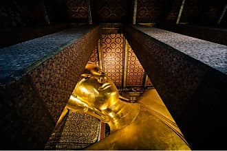 Noir Gallery Reclining Buddha at Wat Pho in Bangkok Metal Wall Art - FL-07-MP-08