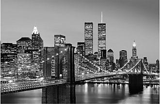 Ideal Decor Manhattan Skyline at Night Wall Mural - DM625
