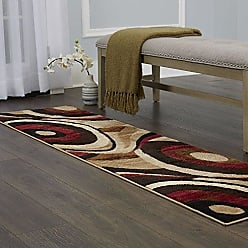 Home Dynamix HD5382-539 Tribeca Slade Modern Runner Area Rug, 26x18, Brown/Red