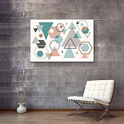 Brushstone Abstract Geo I by Veronique Charron Gallery Wrapped Canvas, Size: 36x54 - 2CHA107C3654W