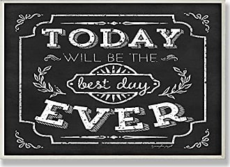The Stupell Home Décor Collection Stupell Home Décor Best Day Ever Inspirational Chalkboard Look Wall Plaque, 10 x 0.5 x 15, Proudly Made in USA