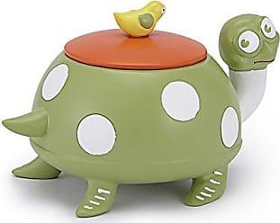 Kassatex Jungle Bath Accessories Cotton Jar, One Size, Green/White/Orange