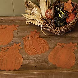 Heritage Lace Pumpkin Vine Doily, 6 x 7, Orange