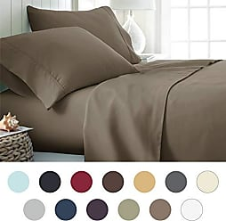 iEnjoy Home Hotel Collection Luxury Soft Brushed Bed Sheet Set, Hypoallergenic, Deep Pocket, Twin X-Large, Taupe