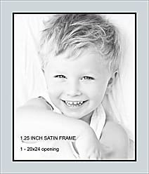 Art to Frames Double-Multimat-656-860/89-FRBW26079 Collage Photo Frame Double Mat with 1-20x24 Openings and Satin Black Frame