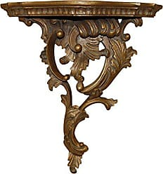 Hickory Manor House Right Renaissance Bracket Decor, Antique Gold