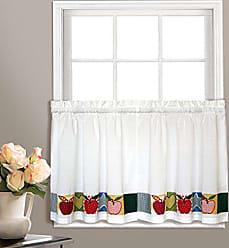 United Curtain Appleton Window Curtain Kitchen Tiers, 55 X 24, Multi, 55 X 24