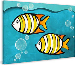 Marmont Hill Two Fish Painting on Wrapped Canvas - MH-NJOY-37-C-18