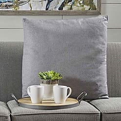 Christopher Knight Home 301598 Soyala Soft Smooth Fabric Throw Pillow (Light Grey)