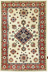 Nain Trading Oriental Rug Kazak Limited 52x34 Dark Grey/Beige (Wool, Afghanistan, Hand-Knotted)