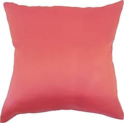 The Pillow Collection Praxis Geometric Red Lacquer Down Filled Throw Pillow