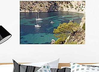 Wallmonkeys Sailing Boats on The Coast of Mallorca Coast Wall Mural Peel and Stick Graphic