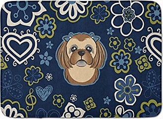 Carolines Treasures Dog House Shih Tzu Silver Chocolate Floor Mat 19 x 27 Multicolor