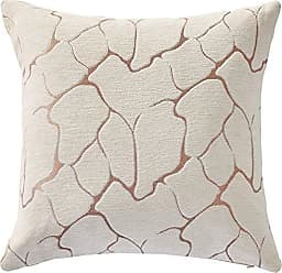 Violet Linen Milano Arts Artistic Design Decorative Throw Pillow Covers 18 X 18 Gold
