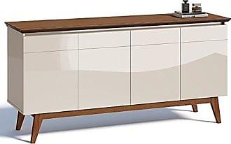 Imcal Buffet Classic 4 Portas Off White/Freijó - Imcal