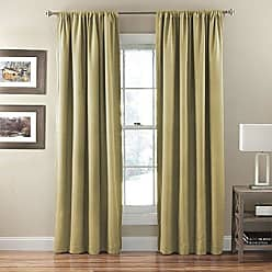 Ellery Homestyles KOZDIKO Eclipse Corsica Crushed Microfiber Blackout Window Curtain Panel, 50 by 95-Inch, Gold