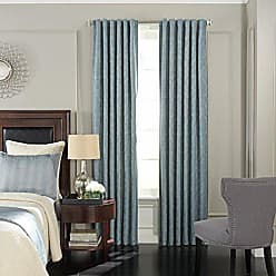 Ellery Homestyles BEAUTYREST Blackout Curtains for Bedroom - Germaine 52 x 84 Insulated Darkening Single Panel Rod Pocket Window Treatment Living Room, Smokey Blue